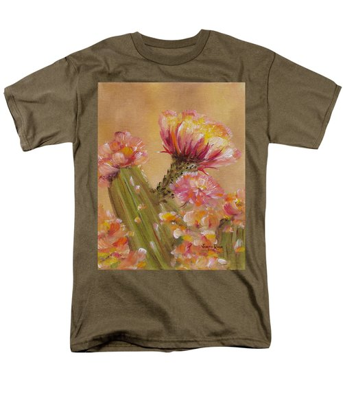 Men's T-Shirt  (Regular Fit) featuring the painting Sun Worshipper by Judith Rhue