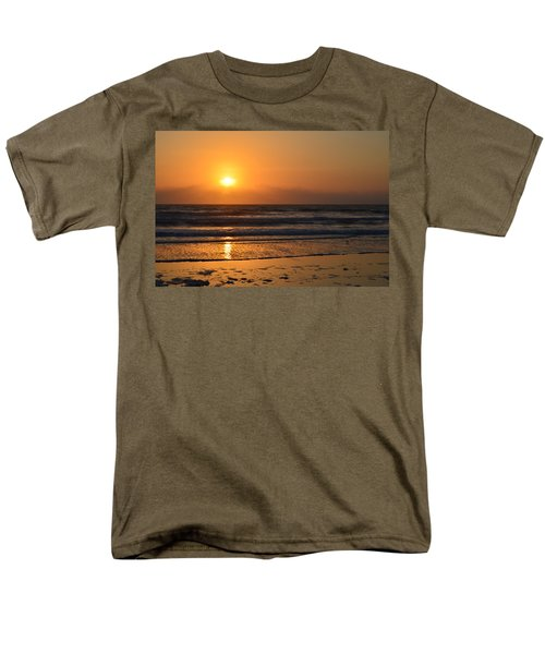 Men's T-Shirt  (Regular Fit) featuring the photograph Sundays Golden Sunrise by DigiArt Diaries by Vicky B Fuller
