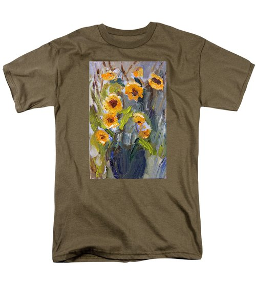 Sunflower Bouquet Men's T-Shirt  (Regular Fit) by Michael Helfen