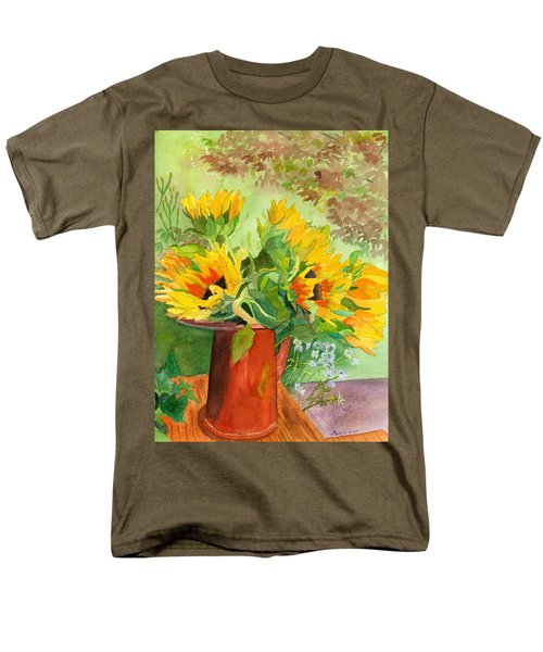 Sunflowers In Copper Men's T-Shirt  (Regular Fit) by Lynne Reichhart