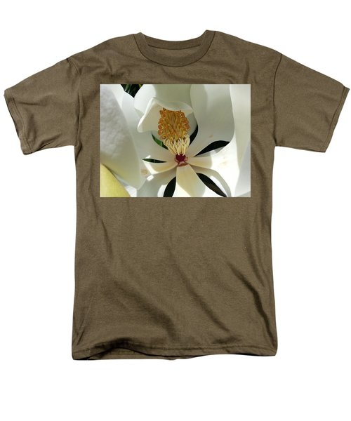 Men's T-Shirt  (Regular Fit) featuring the photograph Sunny And Shy Magnolia by Caryl J Bohn