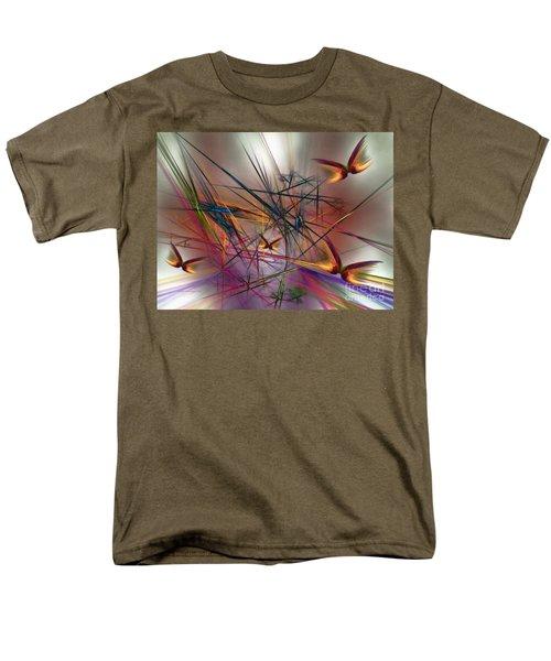 Sunny Day-abstract Art Men's T-Shirt  (Regular Fit) by Karin Kuhlmann