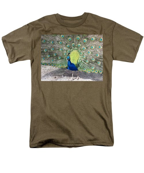 Men's T-Shirt  (Regular Fit) featuring the photograph Sunny Peancock by Caryl J Bohn