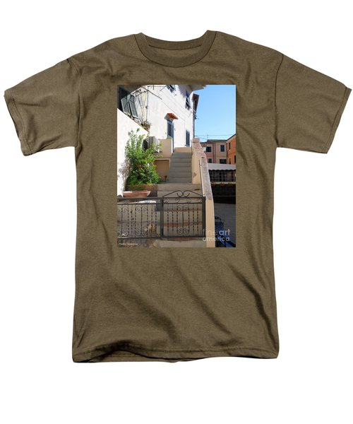 Men's T-Shirt  (Regular Fit) featuring the photograph Sunny Tuscany Village by Ramona Matei