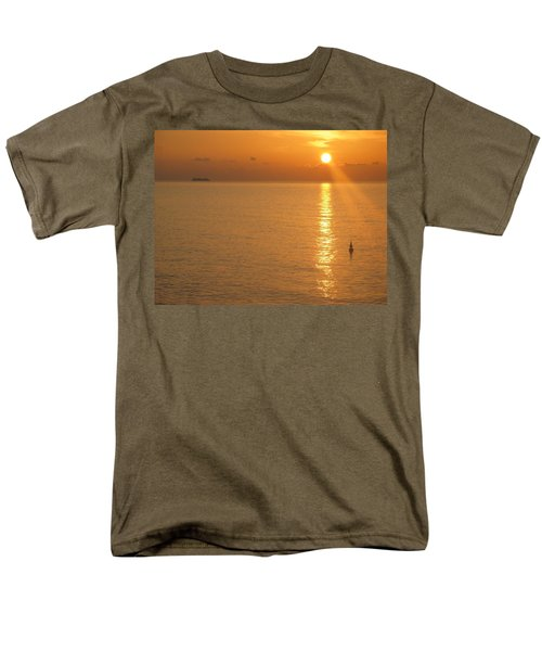 Men's T-Shirt  (Regular Fit) featuring the photograph Sunrise At Sea by Photographic Arts And Design Studio