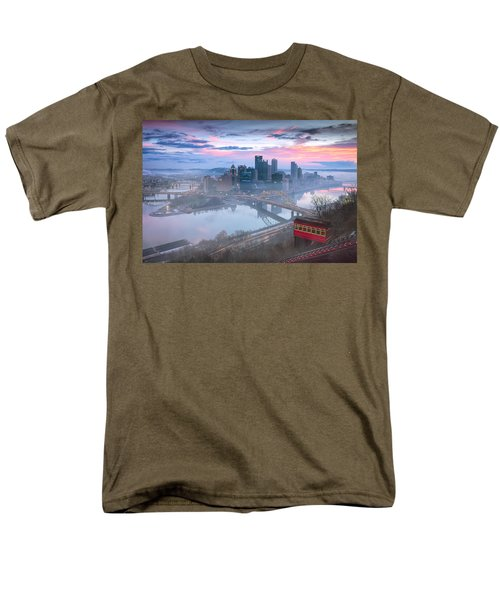 Pittsburgh Fall Day Men's T-Shirt  (Regular Fit) by Emmanuel Panagiotakis