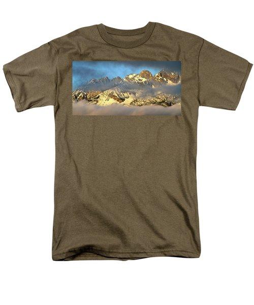 Sunrise On Thompson Peak Men's T-Shirt  (Regular Fit) by Ed  Riche