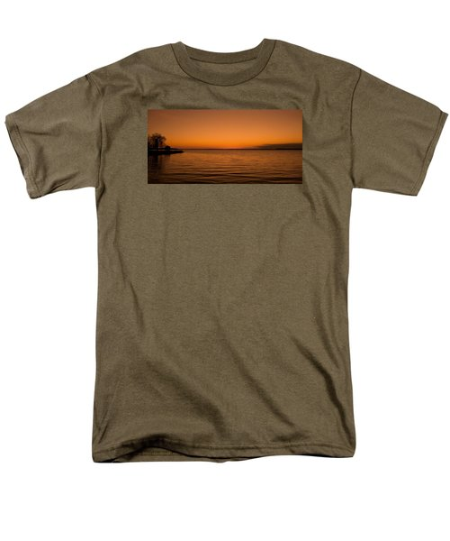 Men's T-Shirt  (Regular Fit) featuring the photograph Sunrise Over The Lake Of Two Mountains - Qc by Juergen Weiss