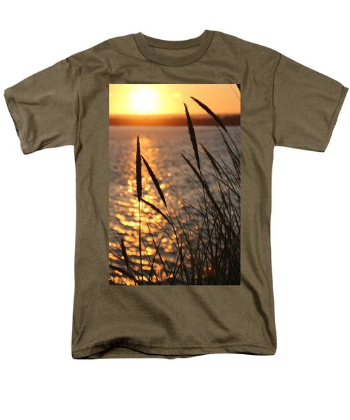 Men's T-Shirt  (Regular Fit) featuring the photograph Sunset Beach by Athena Mckinzie