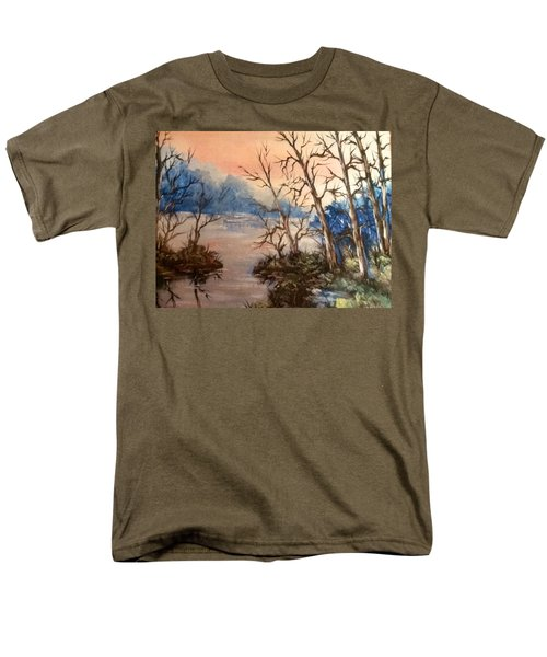 Men's T-Shirt  (Regular Fit) featuring the painting Sunset Calm by Megan Walsh