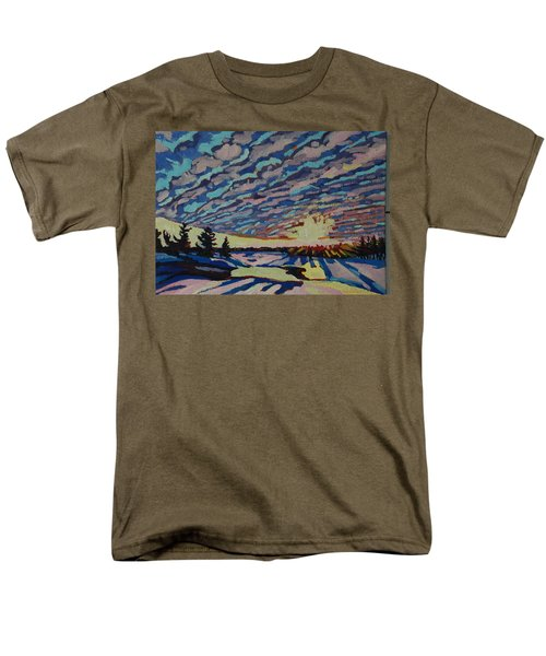 Sunset Deformation Men's T-Shirt  (Regular Fit) by Phil Chadwick