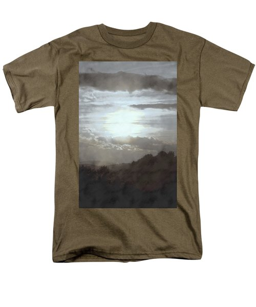 Men's T-Shirt  (Regular Fit) featuring the photograph Sunset Impressions Over The Blue Ridge Mountains by Photographic Arts And Design Studio