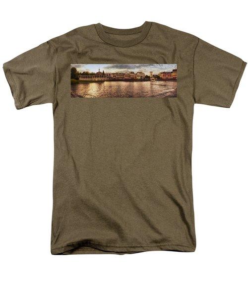 Sunset On The Boardwalk Walt Disney World Men's T-Shirt  (Regular Fit) by Thomas Woolworth