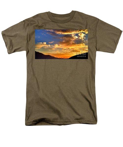 Sunset Over The Pass Men's T-Shirt  (Regular Fit) by Chris Tarpening