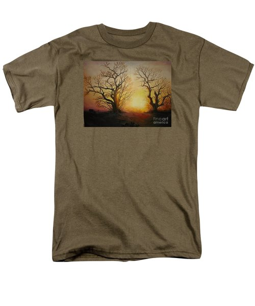 Men's T-Shirt  (Regular Fit) featuring the painting Sunset by Sorin Apostolescu