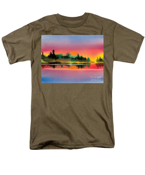 Men's T-Shirt  (Regular Fit) featuring the painting Sunset by Teresa Ascone