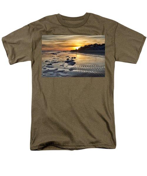 Sunset Wild Dunes Beach South Carolina Men's T-Shirt  (Regular Fit) by Evie Carrier