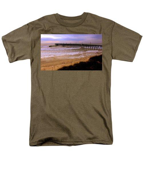 Surf City Pier Men's T-Shirt  (Regular Fit) by Karen Wiles