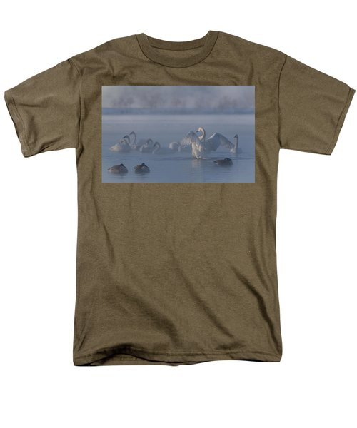 Men's T-Shirt  (Regular Fit) featuring the photograph Swan Showing Off by Patti Deters