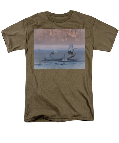 Men's T-Shirt  (Regular Fit) featuring the photograph Swans Chasing by Patti Deters