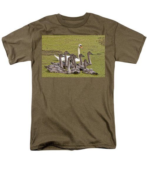 Swans Family Men's T-Shirt  (Regular Fit) by Mike Santis