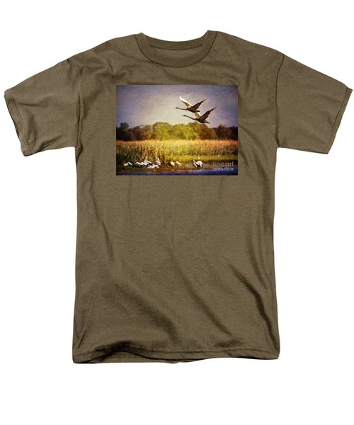 Swans In Flight Men's T-Shirt  (Regular Fit)