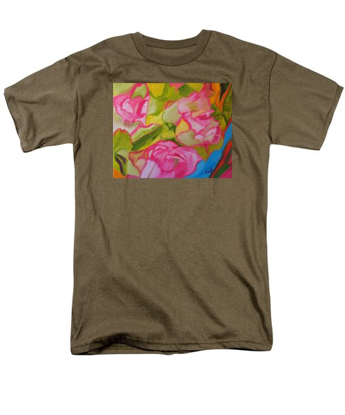 Men's T-Shirt  (Regular Fit) featuring the painting Symphony Of Roses by Meryl Goudey