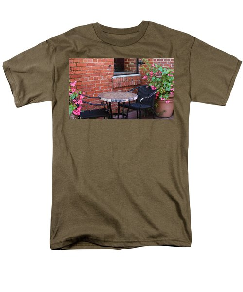 Men's T-Shirt  (Regular Fit) featuring the photograph Table For Two by Cynthia Guinn
