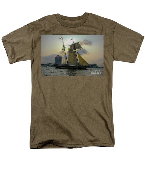 Men's T-Shirt  (Regular Fit) featuring the photograph Tall Ship In Charleston by Dale Powell