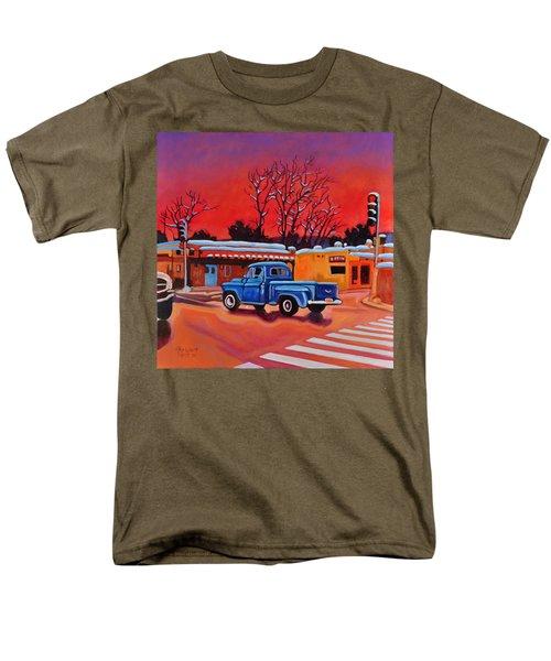 Taos Blue Truck At Dusk Men's T-Shirt  (Regular Fit) by Art West