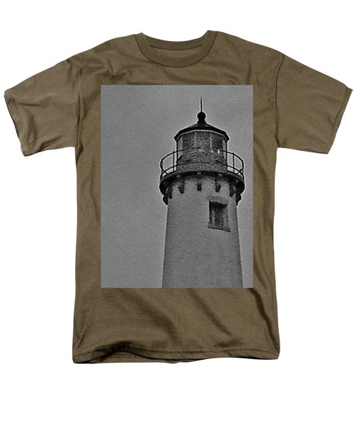 Men's T-Shirt  (Regular Fit) featuring the photograph Tawas Point In The Rain by Daniel Thompson