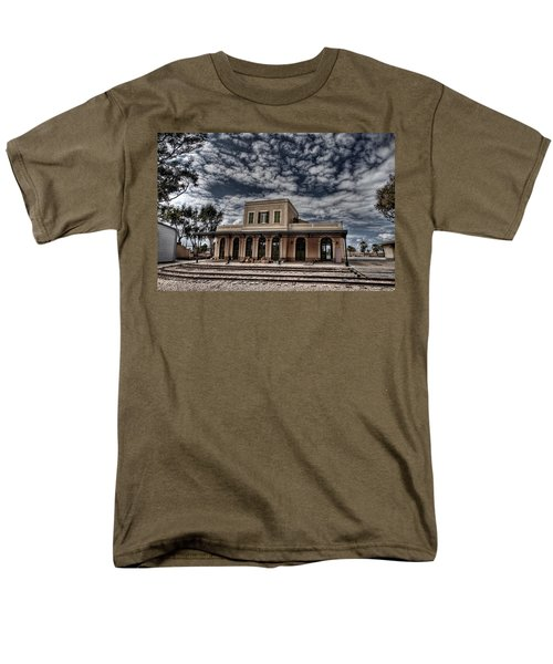 Men's T-Shirt  (Regular Fit) featuring the photograph Tel Aviv First Railway Station by Ron Shoshani