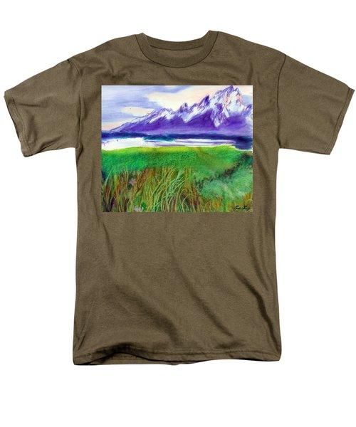 Teton View Men's T-Shirt  (Regular Fit) by C Sitton