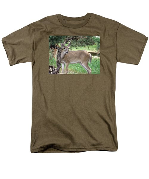 Men's T-Shirt  (Regular Fit) featuring the photograph Texas Beauty - White Tail Doe by Ella Kaye Dickey