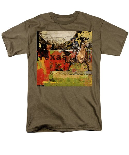 Texas Rodeo Men's T-Shirt  (Regular Fit) by Corporate Art Task Force