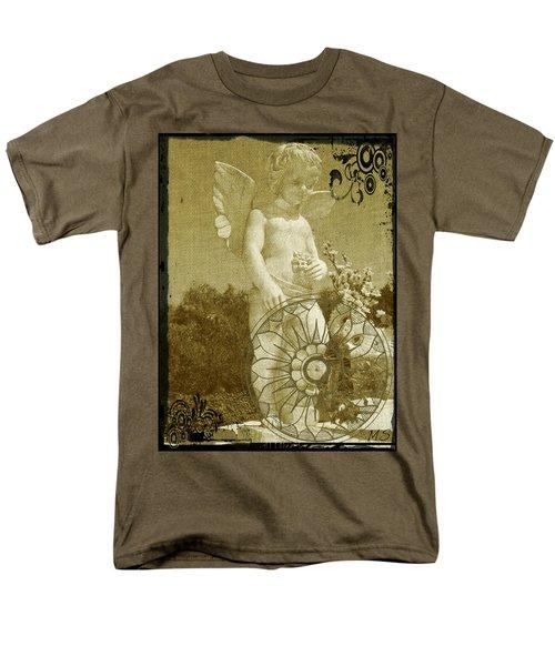 Men's T-Shirt  (Regular Fit) featuring the digital art The Angel - Art Nouveau by Absinthe Art By Michelle LeAnn Scott