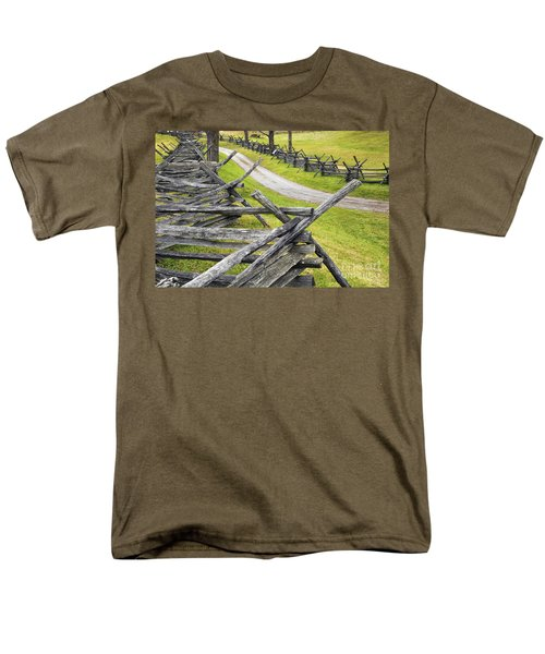 The Bloody Lane At Antietam Men's T-Shirt  (Regular Fit) by Paul W Faust -  Impressions of Light