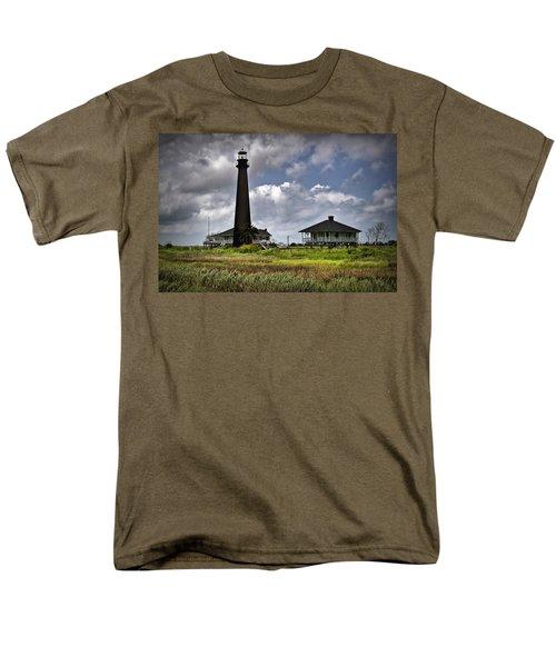 The Bolivar Lighthouse Men's T-Shirt  (Regular Fit) by Linda Unger