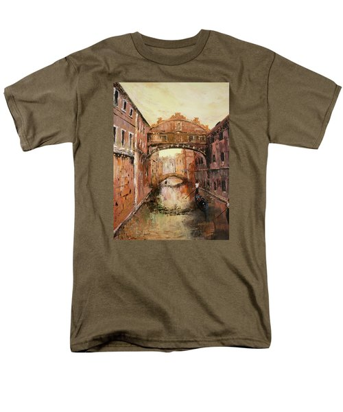 The Bridge Of Sighs Venice Italy Men's T-Shirt  (Regular Fit) by Jean Walker