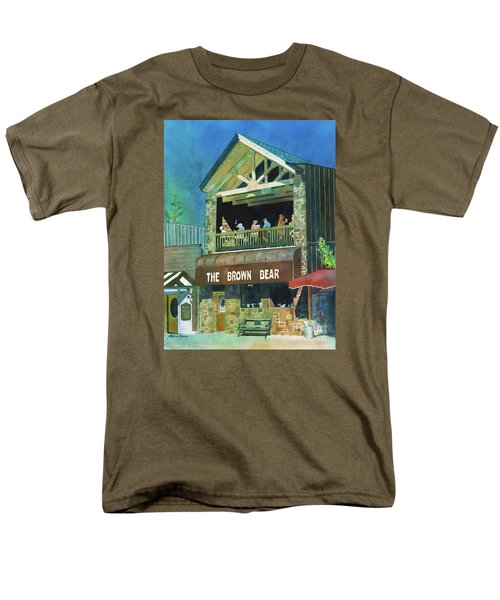 Men's T-Shirt  (Regular Fit) featuring the painting The Brown Bear by LeAnne Sowa