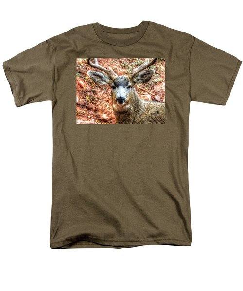 Men's T-Shirt  (Regular Fit) featuring the photograph The Buck I by Lanita Williams
