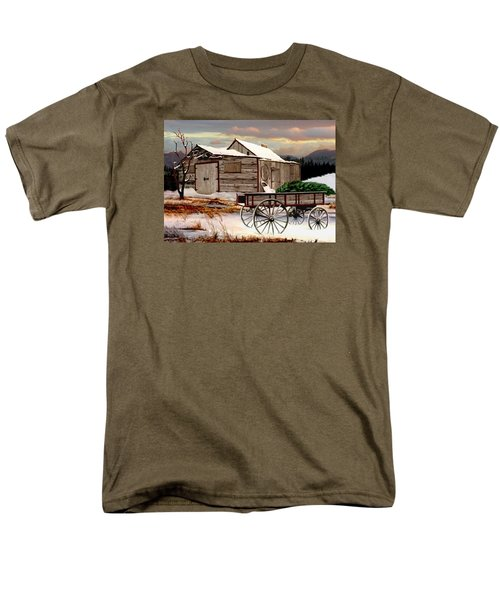 The Christmas Tree Men's T-Shirt  (Regular Fit) by Ron and Ronda Chambers