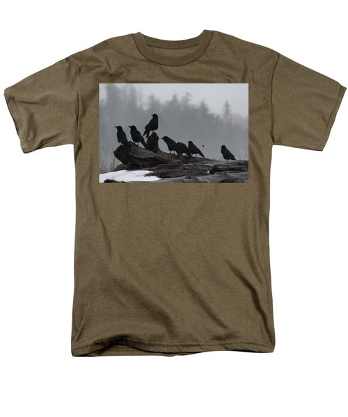 The Corvidae Family  Men's T-Shirt  (Regular Fit) by Cathie Douglas