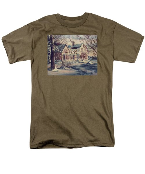 Men's T-Shirt  (Regular Fit) featuring the painting The Farm by Joy Nichols