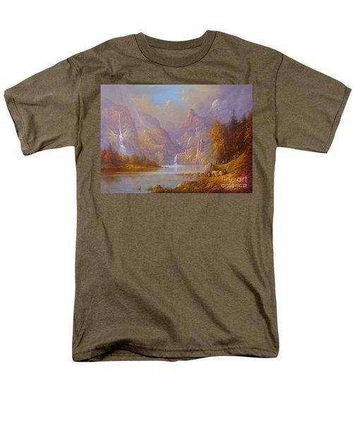 The Fellowship Doors Of Durin Moria.  Men's T-Shirt  (Regular Fit) by Joe  Gilronan
