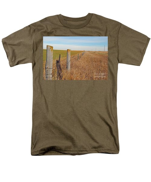 The Fence Row Men's T-Shirt  (Regular Fit) by Mary Carol Story