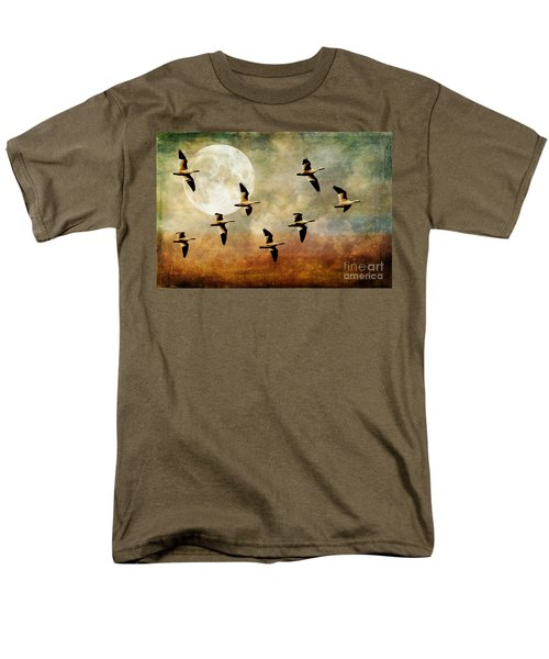 The Flight Of The Snow Geese Men's T-Shirt  (Regular Fit) by Lois Bryan