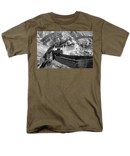 The Great Wall Of China Men's T-Shirt  (Regular Fit) by Sebastian Musial