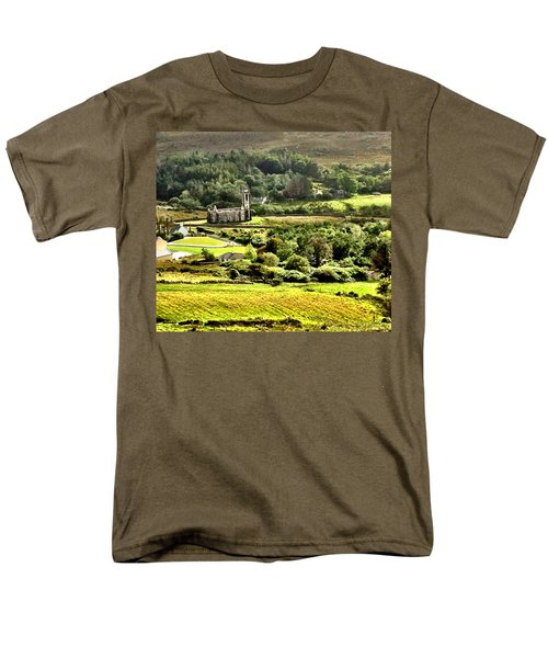 Men's T-Shirt  (Regular Fit) featuring the photograph The Green Valley Of Poisoned Glen by Charlie and Norma Brock