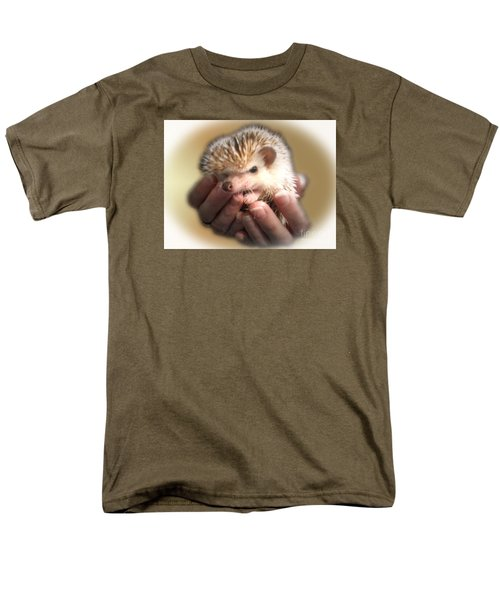 The Hands Who Cares For The Animals  Men's T-Shirt  (Regular Fit) by Donna Brown